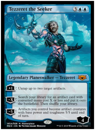 Tezzeret the Seeker Mythic Edition foil planeswalker MTG War of the Spark