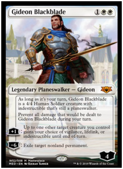 Gideon Blackblade Mythic Edition foil planeswalker MTG War of the Spark