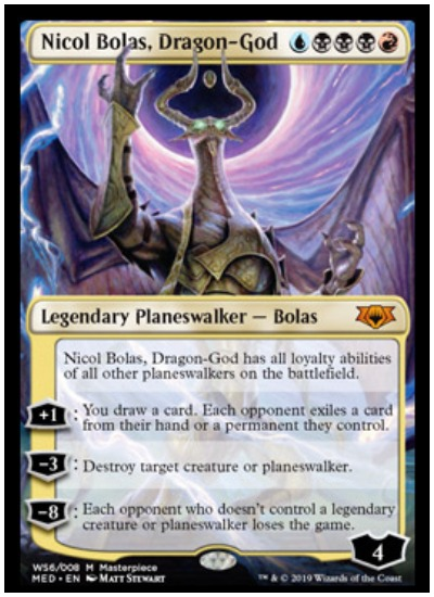 Nicol Bolas, Dragon God Mythic Edition foil planeswalker MTG War of the Spark
