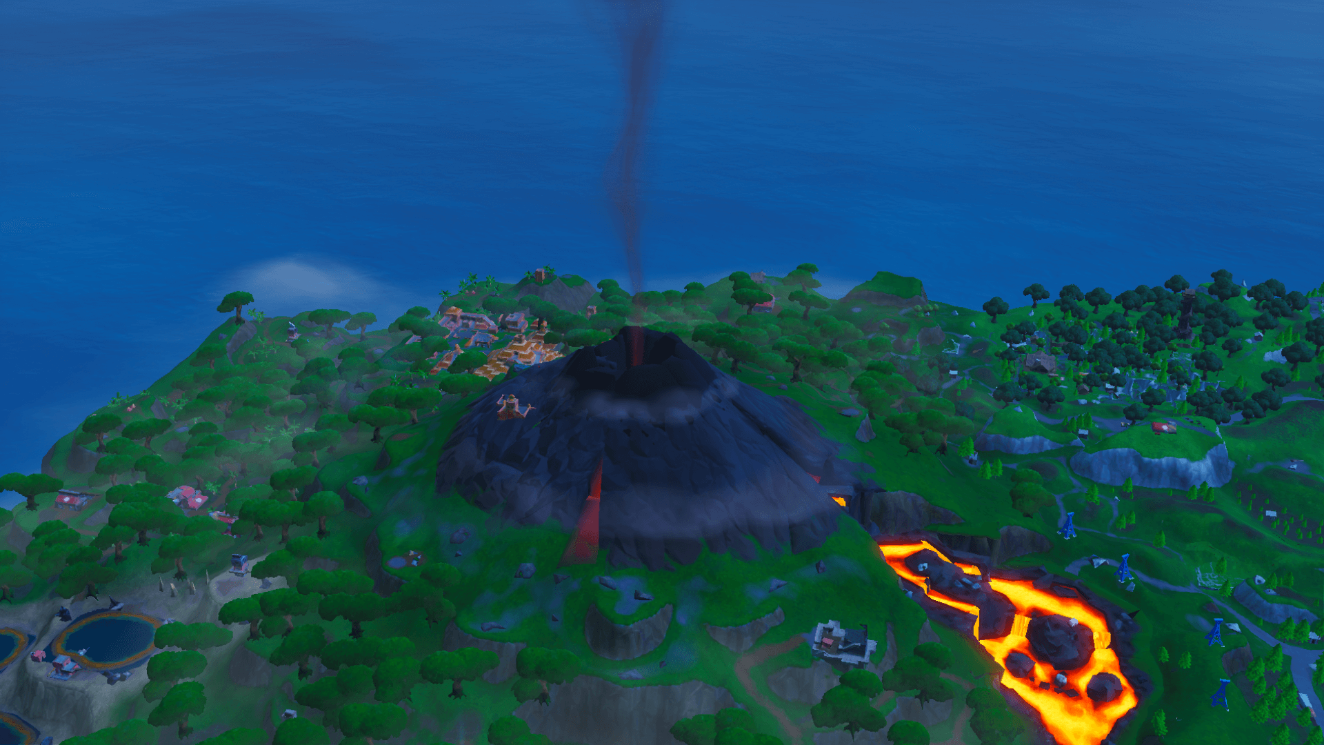 Fortnite's volcano has started sending out smoke | Dot Esports
