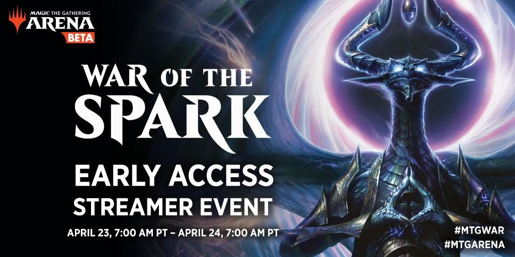 War of the Spark MTG early streamer event