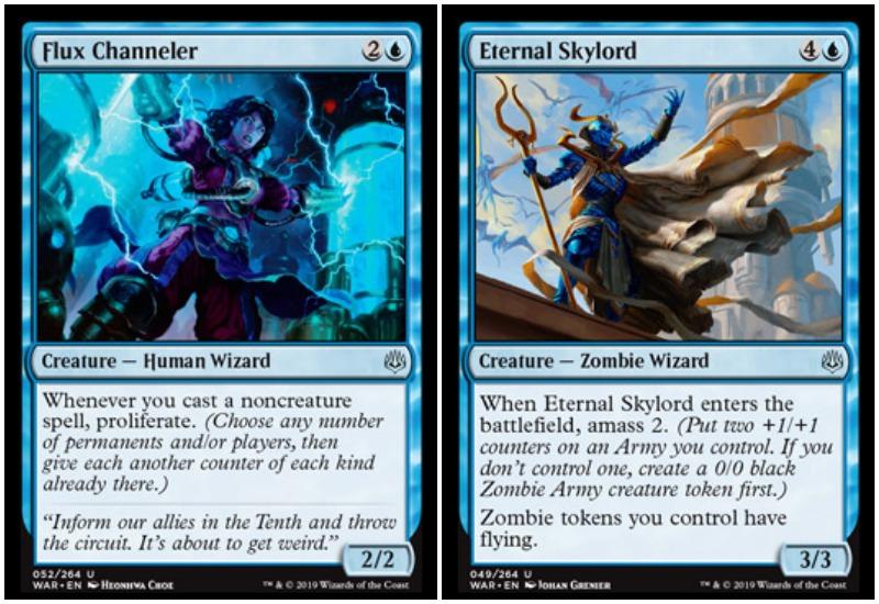 Flux- hanneler and Eternal Skylord MTG War of the Spark Limited draft