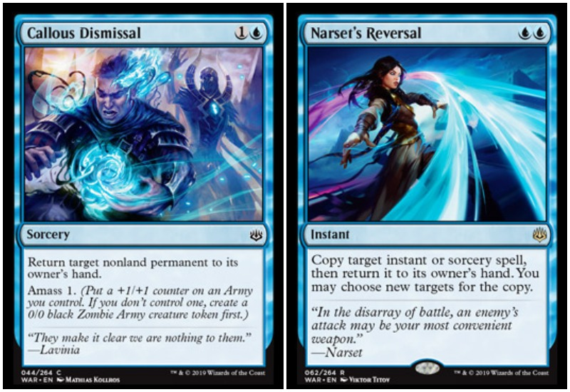 Callous Dismissal and Narset's Reversal MTG War of the Spark Limited draft
