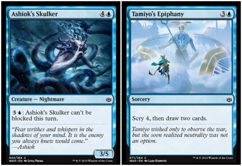Ashiok's Skulker and Tamiya's Epiphany MTG War of the Spark Limited draft guide