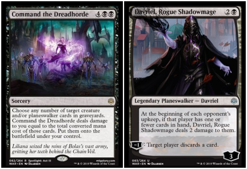 Command the Dreadhorde and Davriel MTG War of the Spark Limited draft