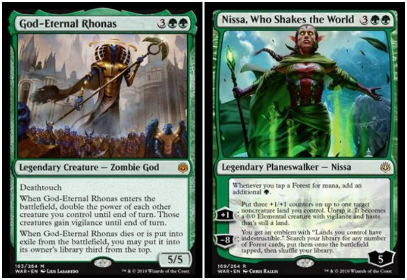 God Eternal Rhonas and Nissa MTG War of the Spark Limited draft