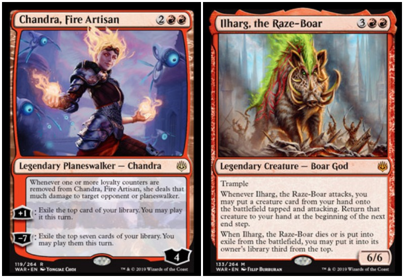 Chandra and Ilharg MTG War of the Spark Limited Draft