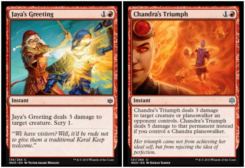 Jaya and Chandra MTG War of the Spark Limited draft