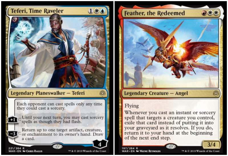 Teferi and Feather the Redeemed MTG War of the Spark Limited draft