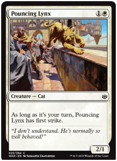 Pouncing Lynx MTG War of the Spark common