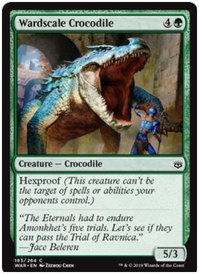 Wardscale Crocodile MTG War of the Spark common