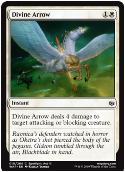 Divine Arrow MTG War of the Spark common