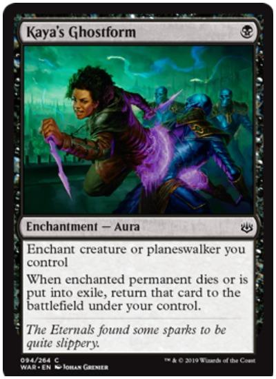Kaya's Ghostform MTG War of the Spark common