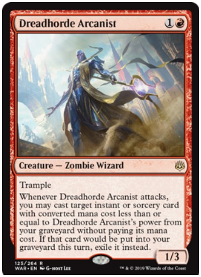 Dreadhorde Arcanist MTG War of the Spark