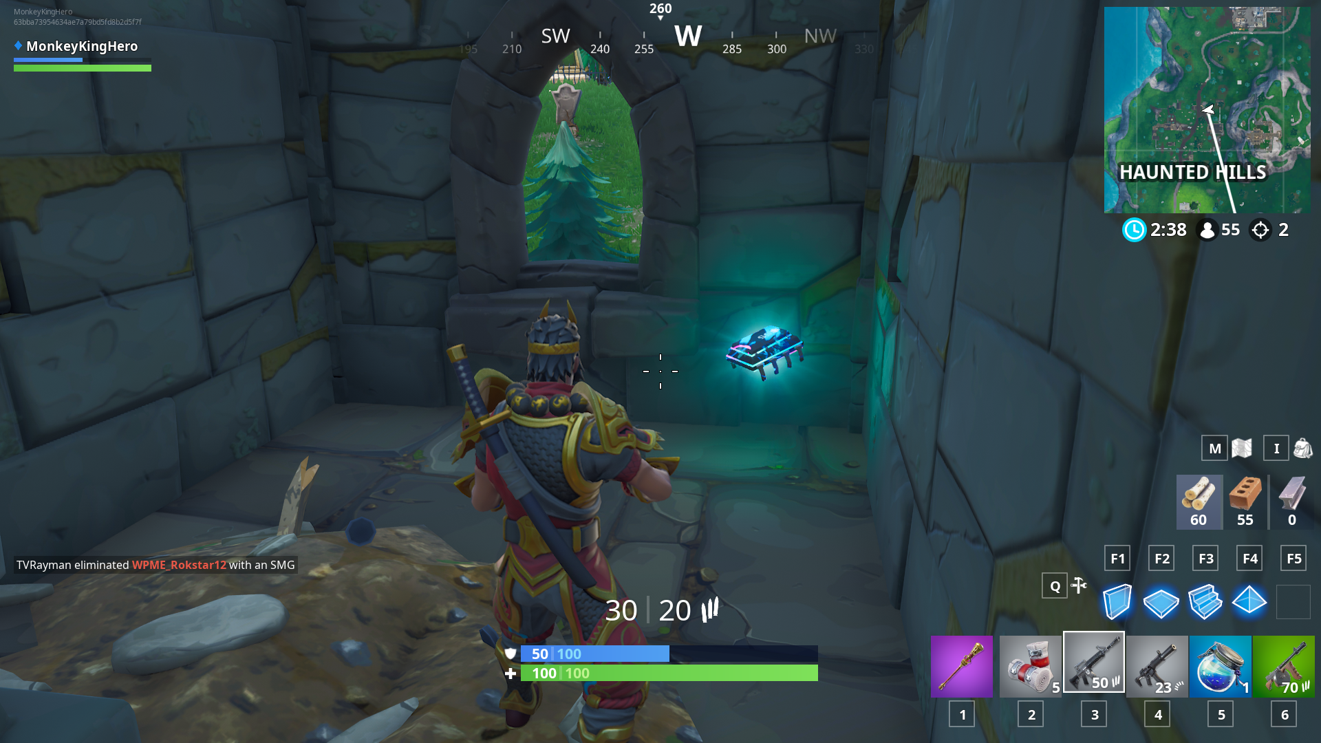 Fortnite: Fortbyte 55 Location Within Haunted Hills (Season 9)   Dot