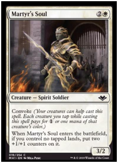 Martyr's Soul MTG Modern Horizons