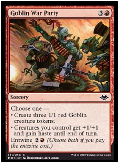 Goblin War Party MTG Modern Horizons
