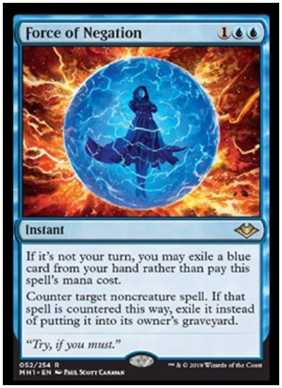 Force of Negation MTG Modern Horizons rare