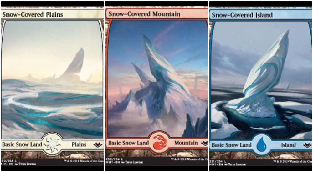 Snow covered basic lands MTG Modern Horizons