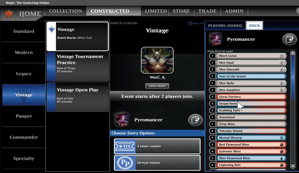 MTG Magic Online lobby updates and upgrades