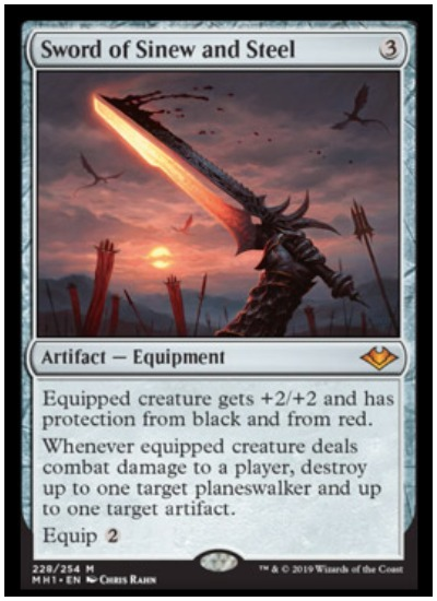 Sword of Sinew and Steel MTG Modern Horizons