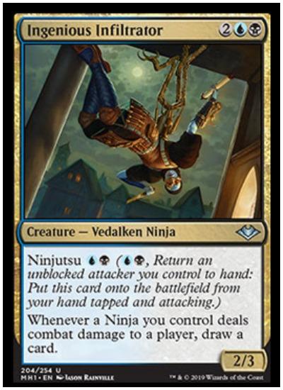 Ingenious Infiltrator ninja MTG Modern Horizons