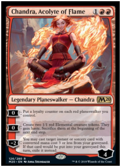 Chandra Acolyte of Flame MTG Core Set 2020 planeswalker
