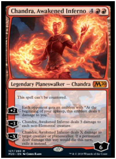 Chandra Awakened Inferno MTG Core Set 2020 planeswalker