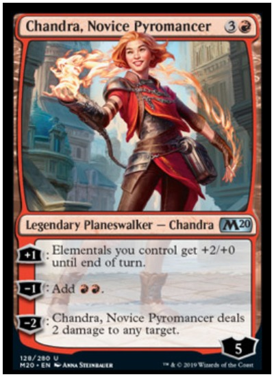 Chandra Novice Pyromancer MTG Core Set 2020 planeswalker