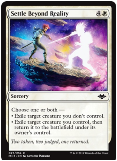 Settle Beyond Reality MTG Modern Horizons