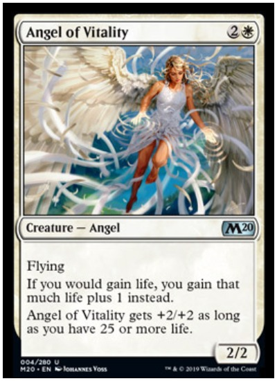 MTG Angels receive life-gaining power through M20 Angel of Vitality