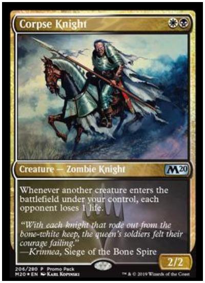 Corpse Knight MTG Core Set 2020 Multicolored Zombie
