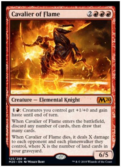 Cavalier of Flame MTG Core Set 2020