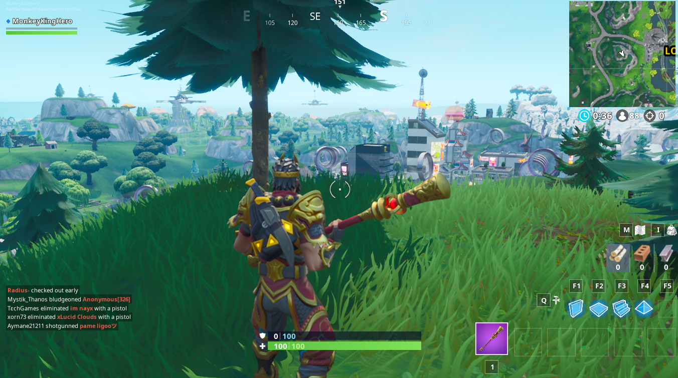 Fortnite Fortbyte 23 Location Found between RV campsite, gas station, monstrous footprint