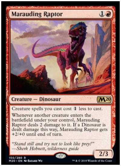 Marauding Raptor MTG Core Set 2020