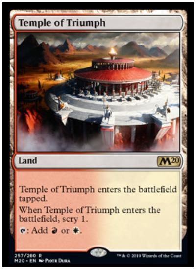 Temple of Triumph MTG Core Set 2020