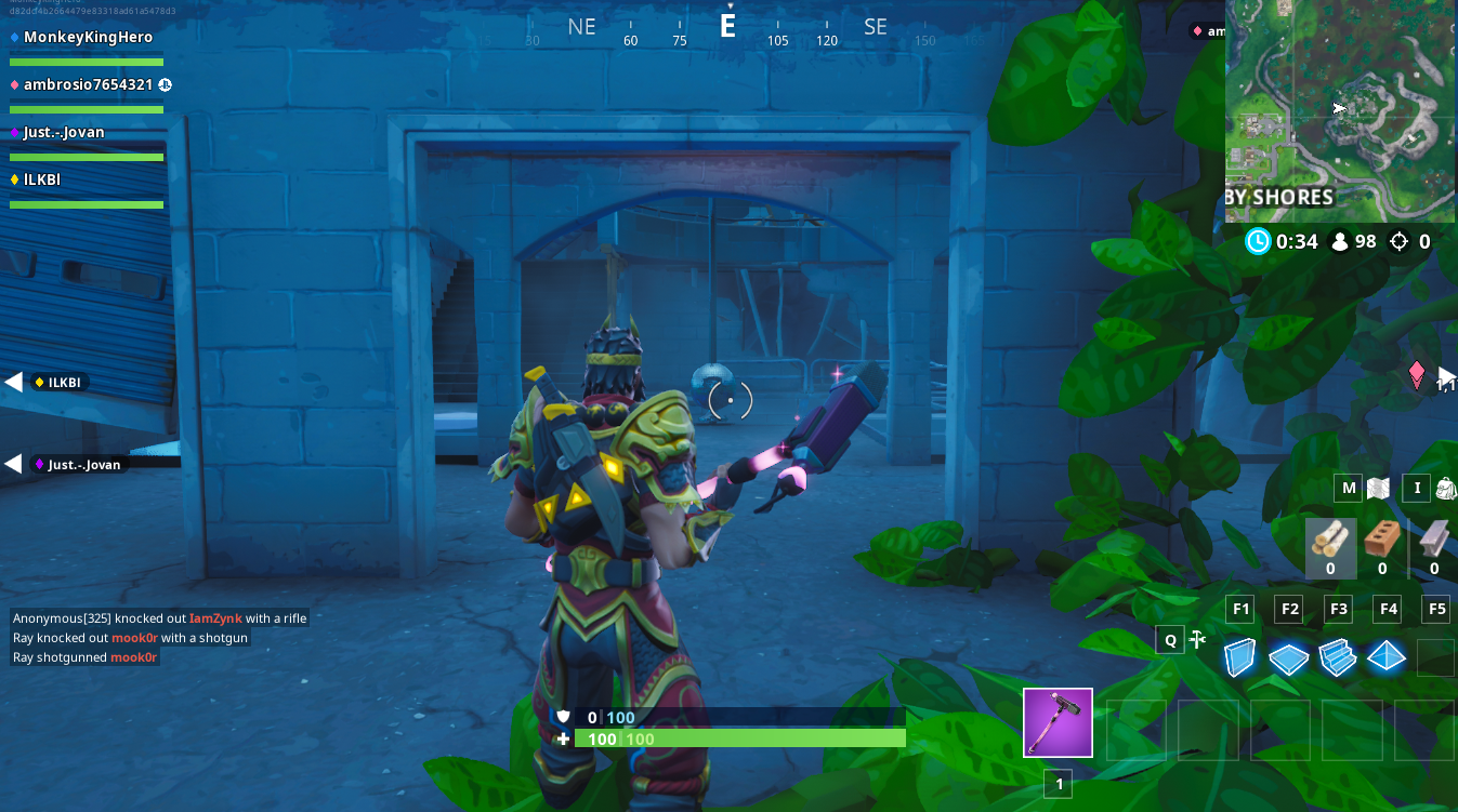 Fortbyte #62 Location: Accessible With The Stratus Outfit Within An Abandoned Mansion