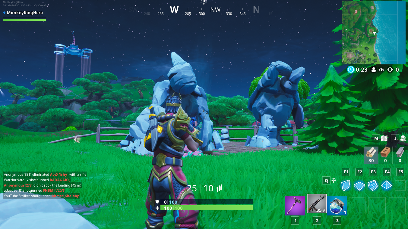 Fortnite: Fortbyte 83, in a Rock Garden near the Coast