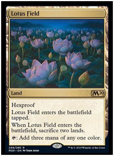 Lotus Field MTG Core Set 2020 land