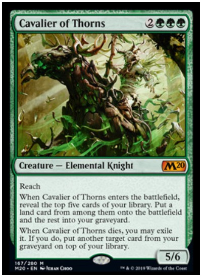 Cavalier of Thorns MTG Core Set 2020