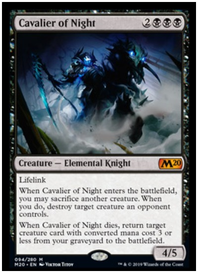 Cavalier of Night MTG Core Set 2020