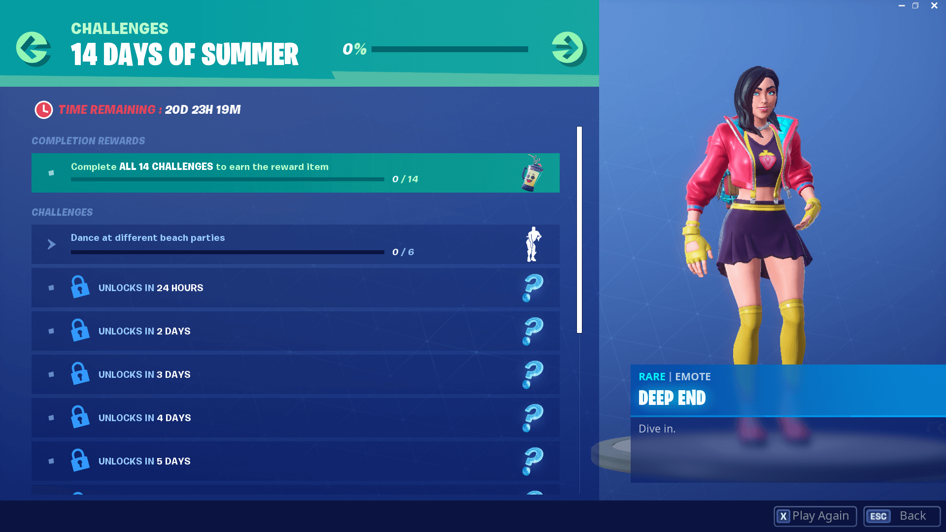 Fortnite 14 Days of Summer Challenges and Rewards List | Dot Esports