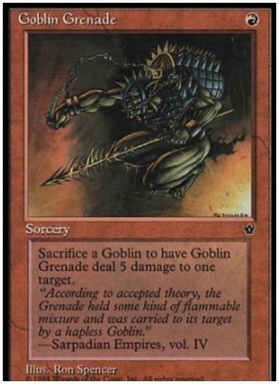 Goblin Grenade Pauper MTG