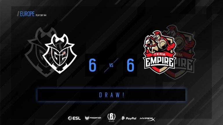 G2 vs Empire matchday 4