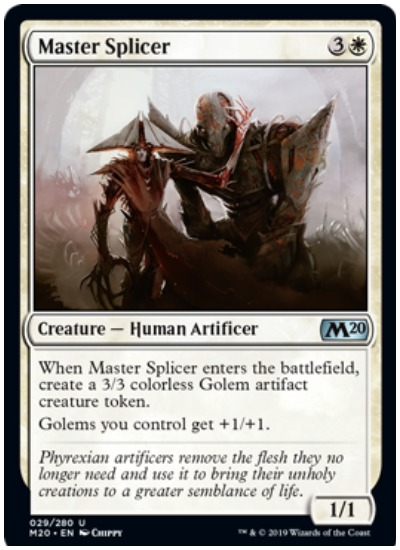 Master Splicer MTG Core Set 2020 White