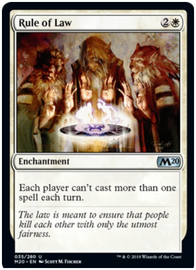 Rule of Law MTG Core Set 2020 White