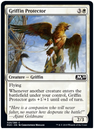 Griffin Protector MTG Core Set 2020 White