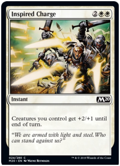 Inspired Charge MTG Core Set 2020 White