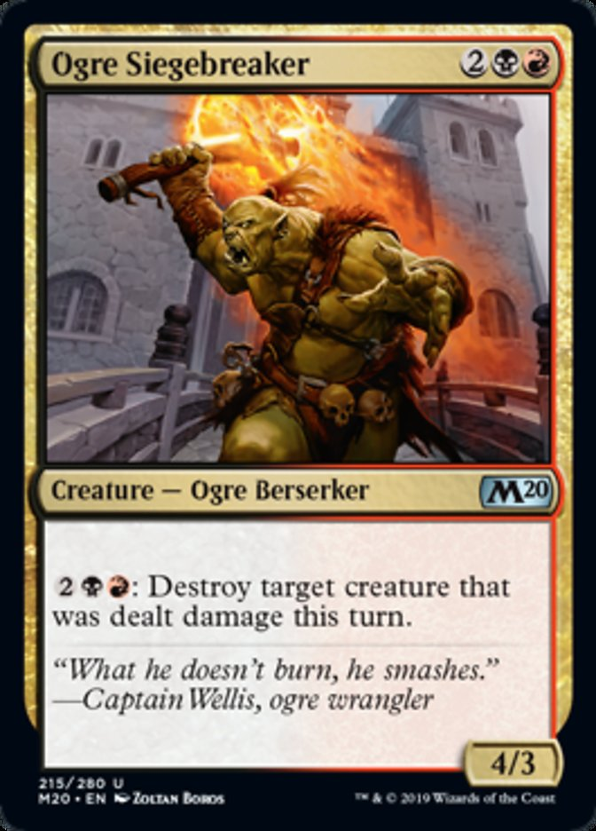 Ogre Siegebreaker Magic Core Set 2020