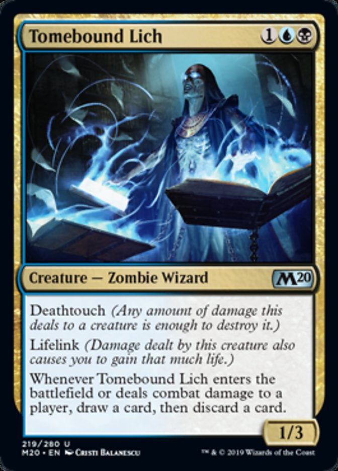 Tomebound Lich Magic Core Set 2020